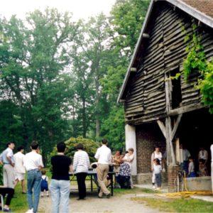 Tournoi de Pingpong 1998 devant le hangar